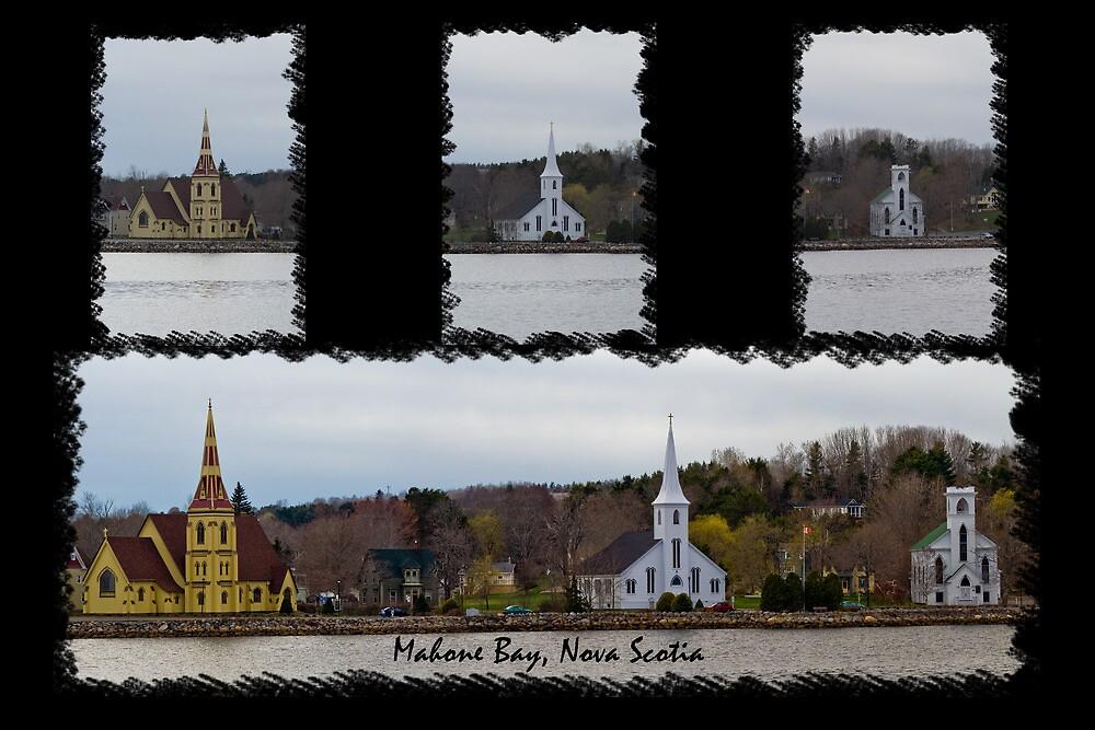 Three Churches Of Mahone Bay by Atlantic Dreams
