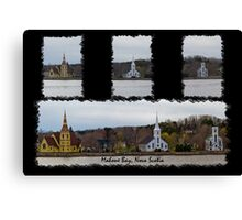 Three Churches Of Mahone Bay Canvas Print