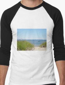 Sandy path to the beach Men's Baseball ¾ T-Shirt