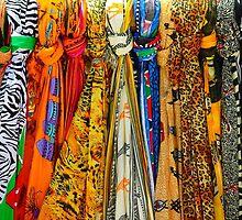 Colourful african scarves by Atanas Bozhikov Nasko