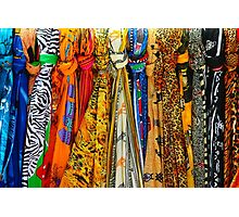 Colourful african scarves Photographic Print