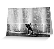 In the fountain7 Greeting Card