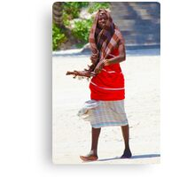 Beach artisan in Mombasa, KENYA Canvas Print
