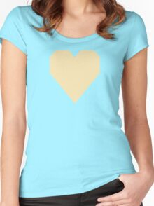 Peach Yellow  Women's Fitted Scoop T-Shirt