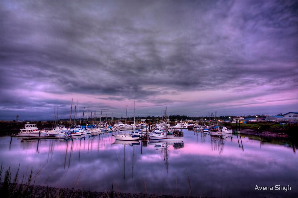 Purple Harbor by Avena Singh