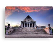 Shrine of Remembrance Canvas Print