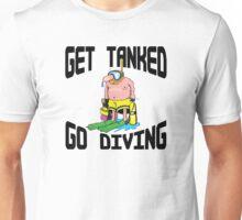 """""""Get Tanked Go Diving"""" SCUBA  Unisex T-Shirt"""