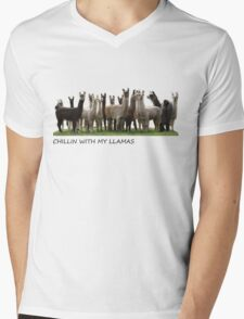 llamas  Mens V-Neck T-Shirt