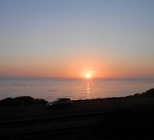Sunset over Pacific Ocean by hardhead23