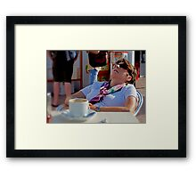 Holidays are hard work Framed Print