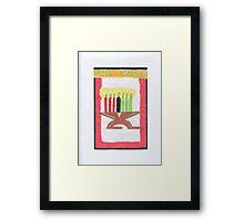 Kwanzaa Candles Framed Print