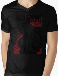 RED LOGAN Mens V-Neck T-Shirt