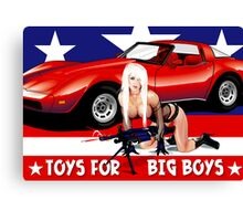 Toys For Big Boys Canvas Print