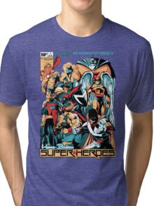 HANNA-BARBERA SUPER HEROES Tri-blend T-Shirt