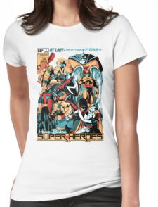 HANNA-BARBERA SUPER HEROES Womens Fitted T-Shirt