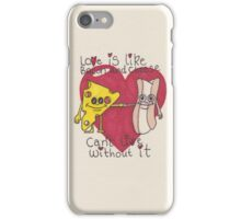 love is like bacon and cheese iPhone Case/Skin