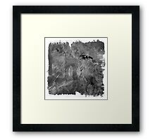 The Atlas of Dreams - Plate 12 (b&w) Framed Print
