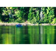 Fishing in reflexion Photographic Print