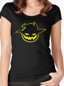 Jack O'Lantern Emblem Women's Fitted Scoop T-Shirt