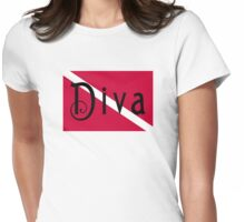 SCUBA Diva Womens Fitted T-Shirt