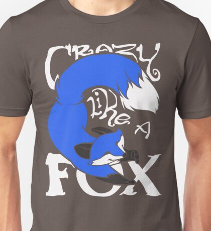 Crazy Like A Fox (Blue) Unisex T-Shirt