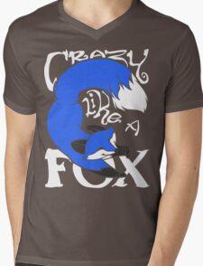 Crazy Like A Fox (Blue) Mens V-Neck T-Shirt