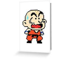 Krilin - pixel art Greeting Card