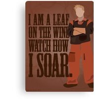 I'm Leaf On the Wind  Canvas Print