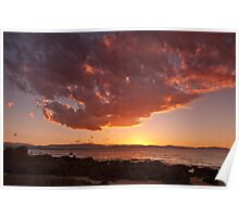 Sunset at Low Head Poster