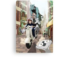 Kekkai Sensen - Leonardo, Zapp and Zed on vespa Canvas Print