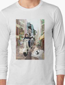Kekkai Sensen - Leonardo, Zapp and Zed on vespa Long Sleeve T-Shirt