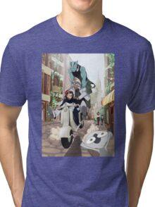 Kekkai Sensen - Leonardo, Zapp and Zed on vespa Tri-blend T-Shirt