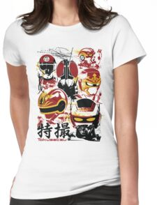 Tokusatsu Assemble 3 colors Womens Fitted T-Shirt