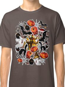 Halloween Spooky Cartoon Saga Classic T-Shirt