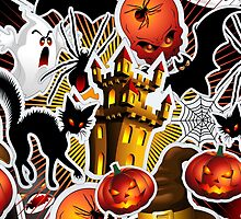 Halloween Spooky Cartoon Saga by BluedarkArt