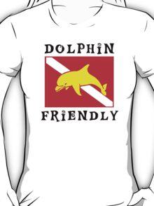 Dolphin Friendly SCUBA  Flag T-Shirt