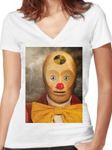 Waiting For The Shove Women's Fitted V-Neck T-Shirt