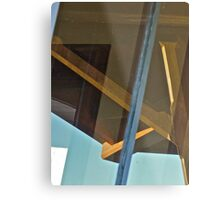 Canopy Reflection in the Window  Metal Print