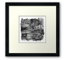 The Atlas of Dreams - Plate 13 (b&w) Framed Print