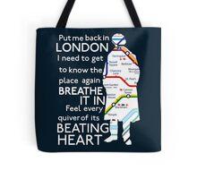 London Underground Map Sherlock Tote Bag