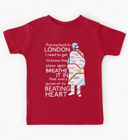 London Underground Map Sherlock Kids Tee
