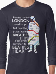 London Underground Map Sherlock Long Sleeve T-Shirt