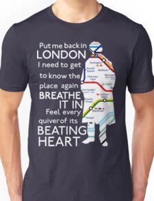 London Underground Map Sherlock Unisex T-Shirt