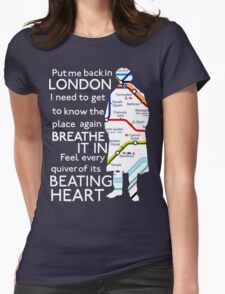 London Underground Map Sherlock Womens Fitted T-Shirt