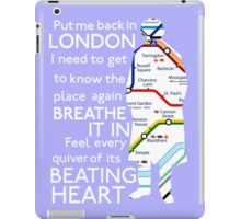 London Underground Map Sherlock iPad Case/Skin