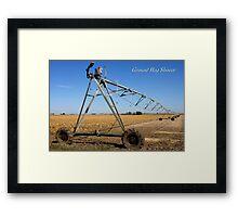 Ground Hog Shower Framed Print