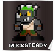8-Bit TMNT Rocksteady Poster