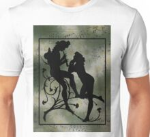 Daisies, Silhouette and Music Scraps  Unisex T-Shirt