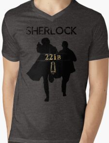 221B Baker Street Mens V-Neck T-Shirt