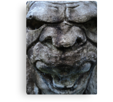 Screaming Gargoyle Canvas Print